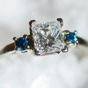Jewelry - Diamond & Sapphire Ring
